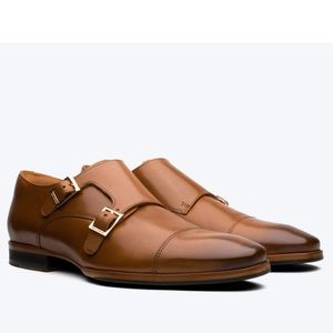 Magnanni Miro leather buckle loafers Honey Brown
